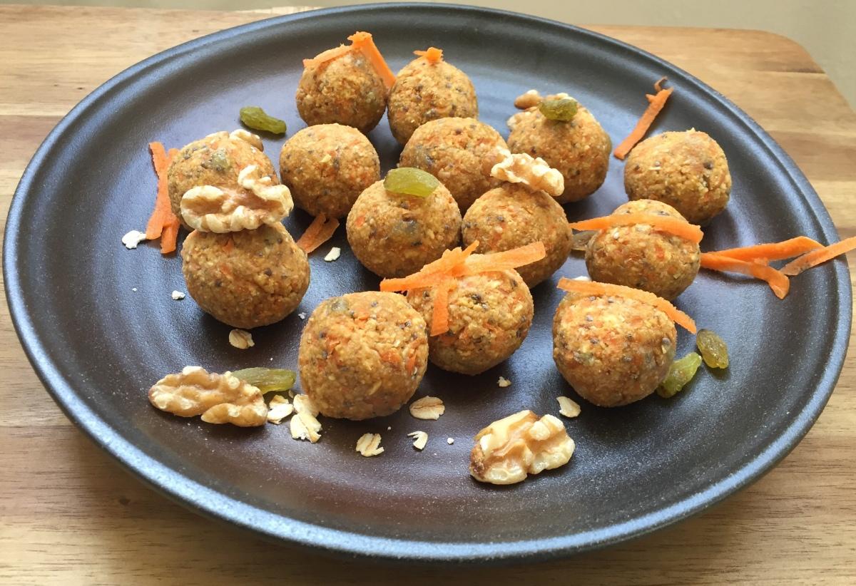 Carrot Cake Protein Bliss Balls