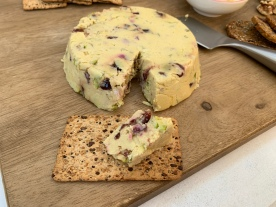 My yummy cranberry and pistachio vegan cheese